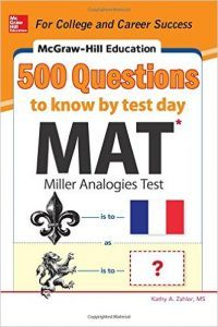 McGraw-Hill 500 MAT Questions to Know by Test Day