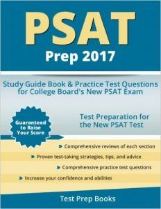 PSAT Prep 2017 Study Guide Book Practice Test Questions