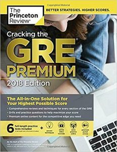 Cracking the GRE Premium Edition 2018