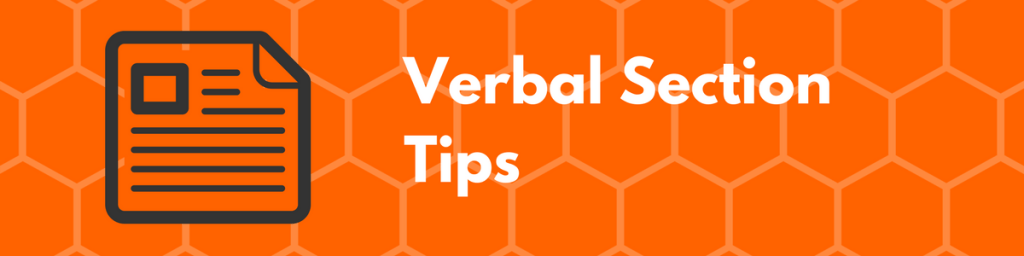 GMAT Verbal Section Tips