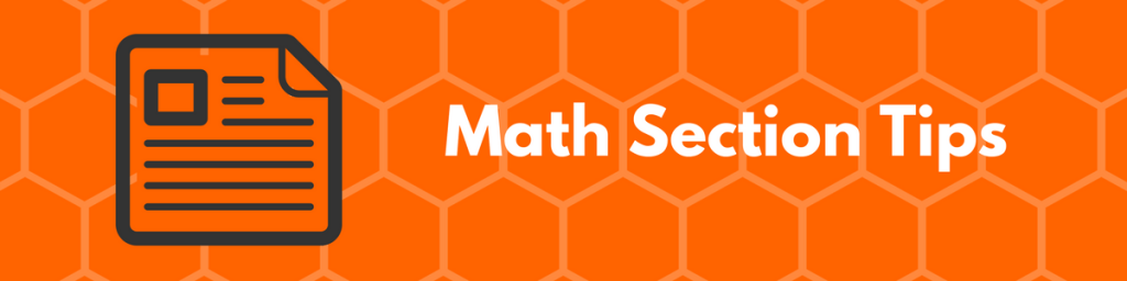 SAT Math Section Tips